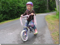 Biking for the first time without training wheels!