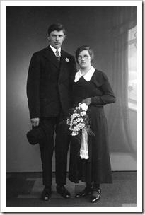 Grandpa & Grandma (Wedding 1934)