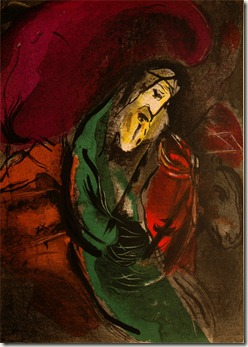 """Jeremiah,"" colour lithograph, Marc Chagall"