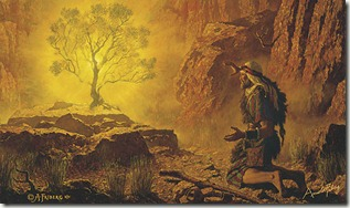 """Moses and the Burning Bush"" by Arnold Friberg"
