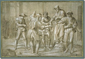 """Parable of the Workers in the Vineyard"" by Andrea del Sarto"