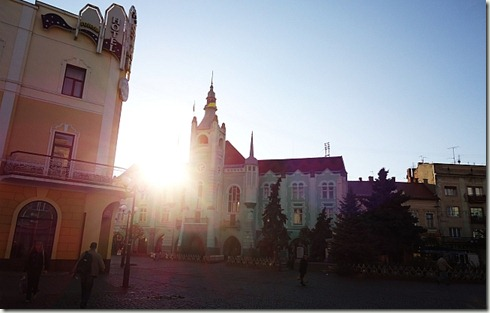 Mukachevo on a fall evening