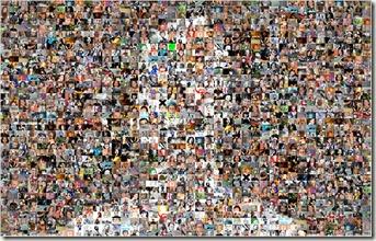 Facebook friends mosaic
