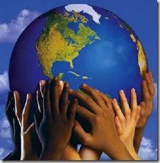 Many hands, one globe