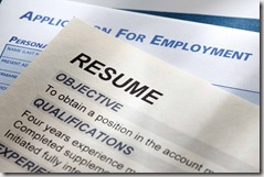 Job application and résumé found via Google