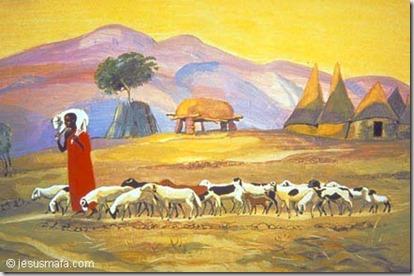 The Good Shepherd by the Mafa Christian community in Cameroon