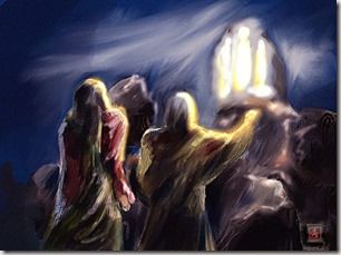 Transfiguration of Jesus artwork by Andrew Gray