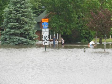 Flooding in Rock Valley photo by Bonita Van Otterloo