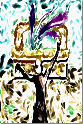 Artwork of David dancing by Michael Yosef Robinson – yosefdreams.com