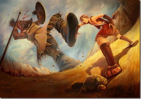 David vs. Goliath by Szemin Tham, found at deviantart.net