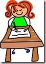 Girl writing graphic found via Google