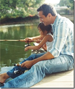 Father and daughter fishing picture found via Google