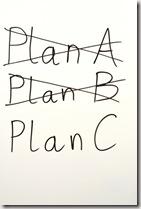 Plan A, B, C graphic found via Google