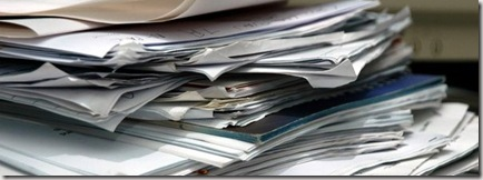 Pile of papers graphic found via Google