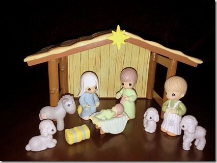 Our Precious Moments nativity set
