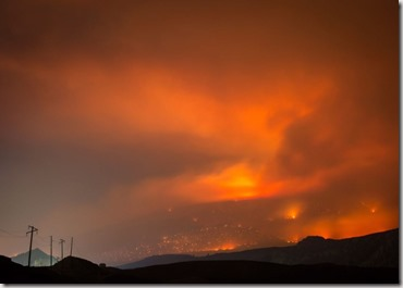 Cache Creek wildfire photo from CBC