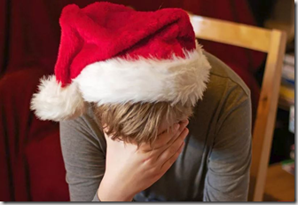Christmas sadness graphic found at verywellhealth.com