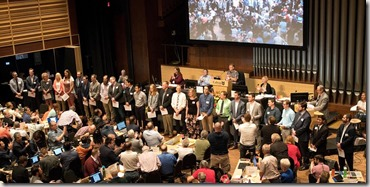 Delegates of Synod 2019 with new candidates for ordained ministry