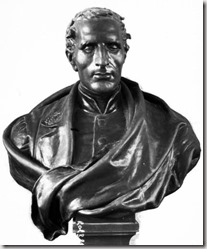 Bust of Louis Braille by Étienne Leroux found at Wikipedia