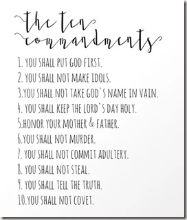 10 Commandments graphic found at society6.com