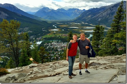 At the top of Tunnel Mountain with my colleague Dan Hoogland from Fredericton, New Brunswick