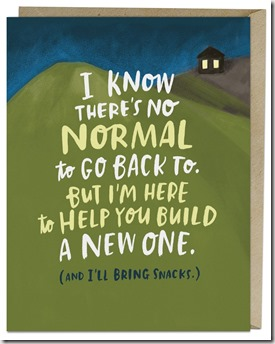 New Normal greeting card available at emilymcdowell.com