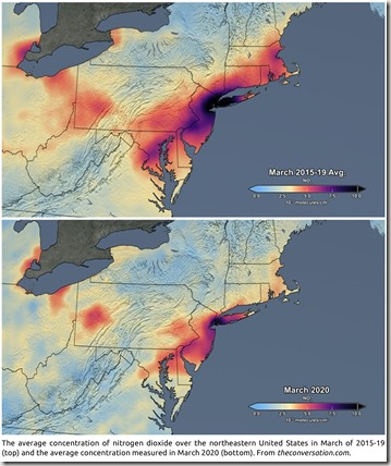 Average NO2 concentration in northeastern US. From theconversation.com