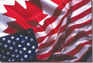 Canada and US flags graphic found with Google